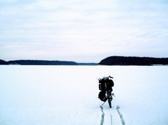 Lake Monroe ice